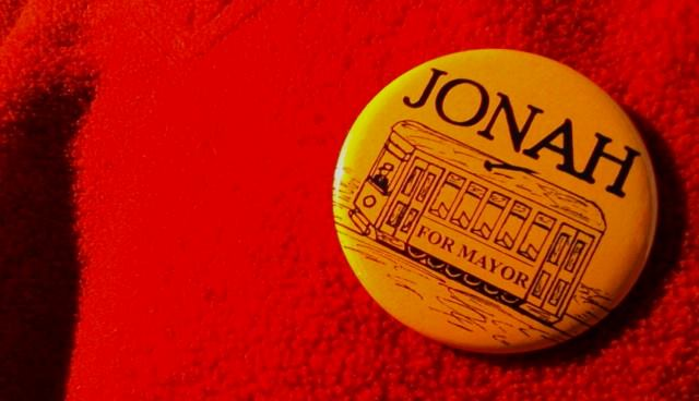 jonah for mayor button